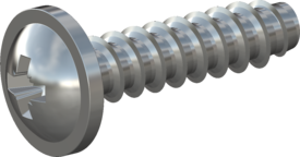 STP210350140S, Screw STS-plus KN6031 3.5x14 - Z2, steel, hardened 10.9, zinc-plated 5-7 µm, baked, blue / transparent passivated